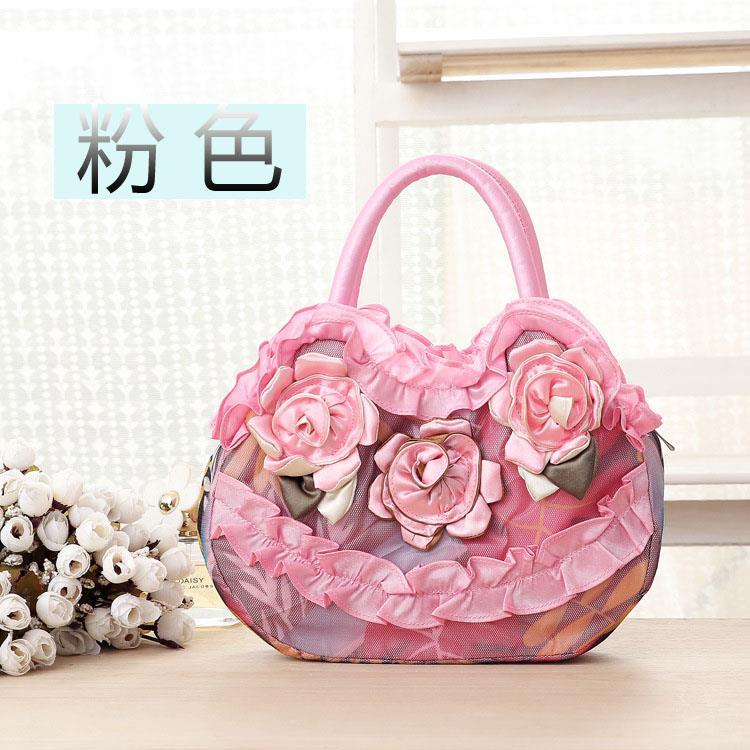 2018 retro handbag womens Chinese style hand-held cloth bag with bag silk ancient costume womens handbag hand-held ancient costume Shu