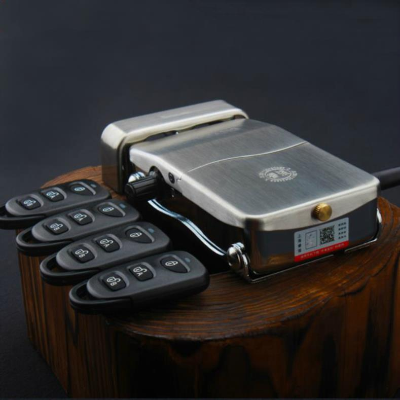 买三送一遥控锁家用无线大门锁房门锁隐形暗锁门锁套装锁指纹电控指纹锁电