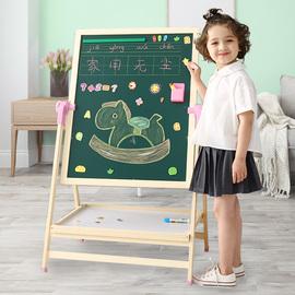 幼儿童画画板升降支架式小黑板家用宝宝学写字白板笔可擦画架图片
