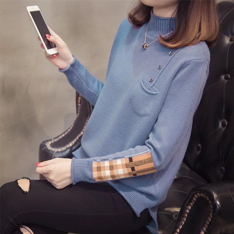 加肥加大码女装2018秋冬装新款毛衣200斤微胖妹妹显瘦针织打底衫