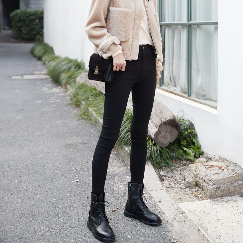 打底裤女秋冬加绒保暖2019新款韩版外穿紧身显瘦黑色小脚魔术裤子