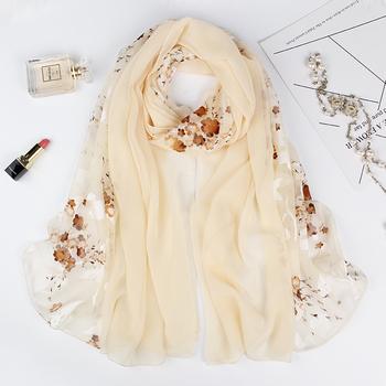 2018新款春秋冬季雪纺丝巾女士韩版超大长款百搭披肩围巾两用纱巾