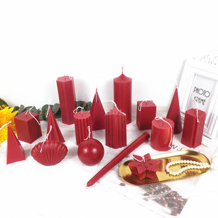 手工蜡烛模具 diy香薰蜡烛模具材料 锥形球形方形圆柱做蜡烛模具