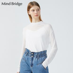 修身 Bridge百家好春季 女士韩版 新品 长袖 MTTS126B Mind T恤 打底衫