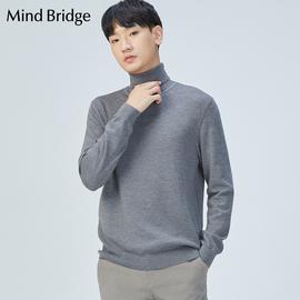 Mind Bridge百家好男士针织衫线衣冬季款时尚高领羊毛衫MTKT718B