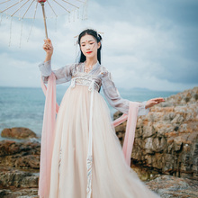 Hanshang Hualien Xianyu Han Dress Genuine Women's Clothes Originally High waist, chest-length skirt and big dress Daily Fresh Super Xian Spring and Summer