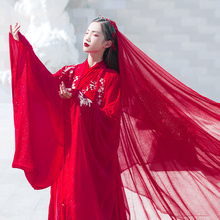 Hanshang Hualian begs for Hanshu Female Dresses to Marry Big Sleeve Dresses, Spot Waist Big Sleeve Shirts, Heavy Work Embroidery Daily
