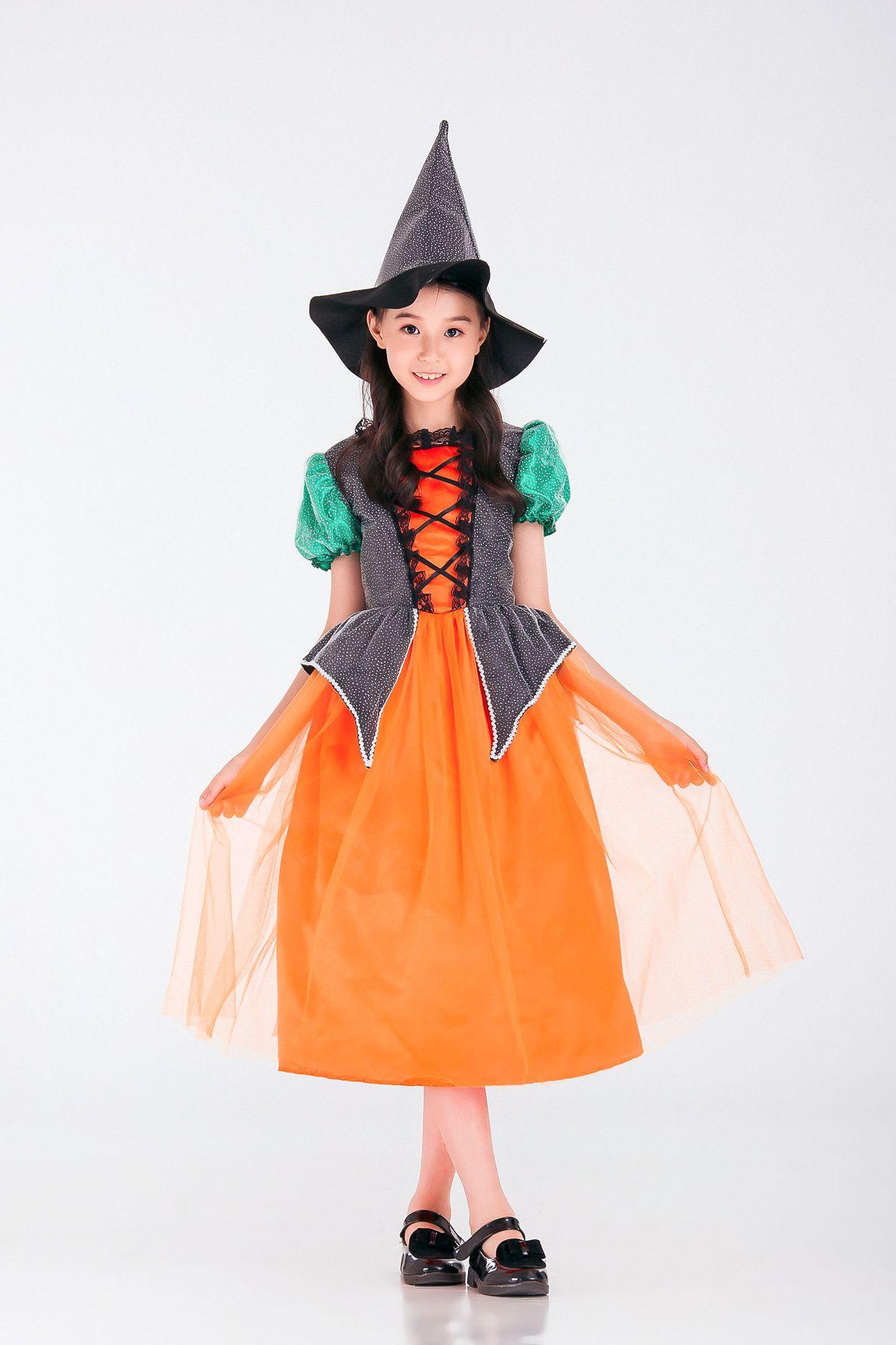 子供の日の舞台衣装ハロウィンコスプレ衣装の魔女のパーティー衣装