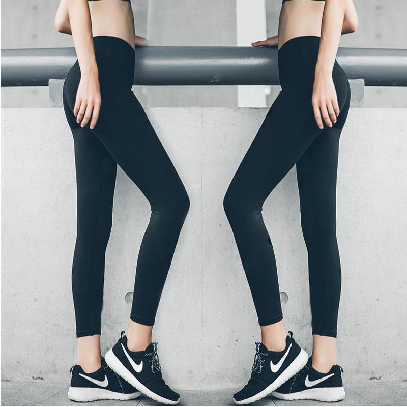 薄款高腰瑜伽裤速干弹力紧身健身裤运动裤女显瘦跑步长裤打底裤夏