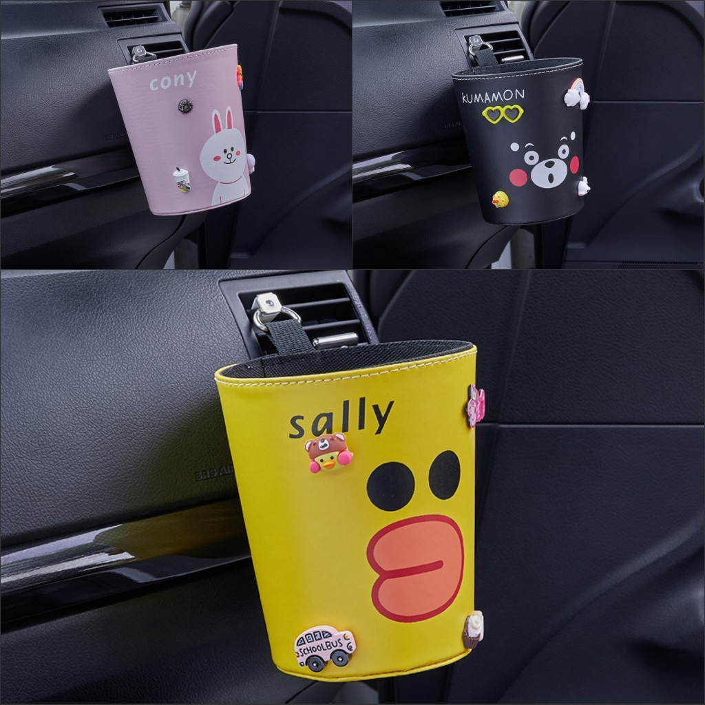 车载垃圾桶创意可爱汽车内用上挂式前排粘贴式椅背垃圾收纳置物袋