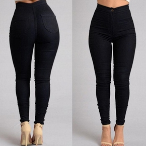 2018Fashion elastic jeans women leggings ladies jeans pants, цена 276 руб