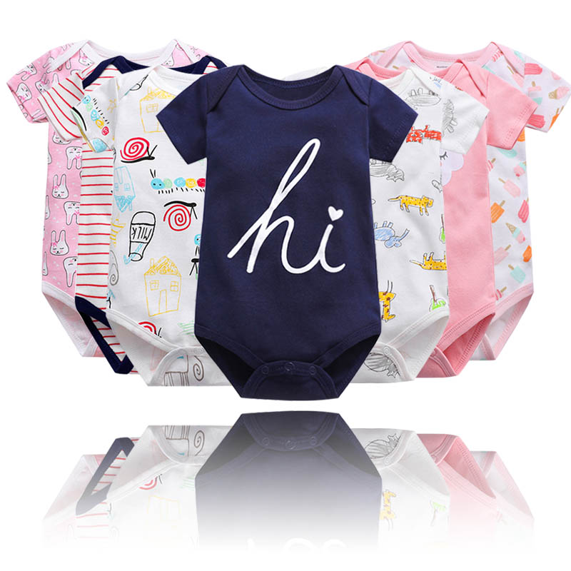Special cotton triangle Khaki baby Jumpsuit creeping suit Jumpsuit short sleeve bag fart suit spring and summer baby clothes