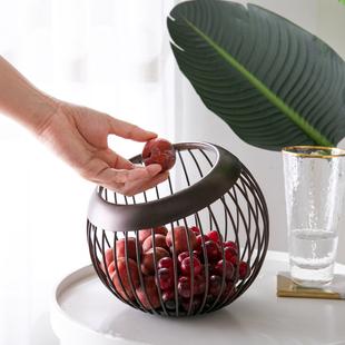 创意水果盘客厅欧式北欧风格家用高档盆小精致客厅网红篮轻奢果盘