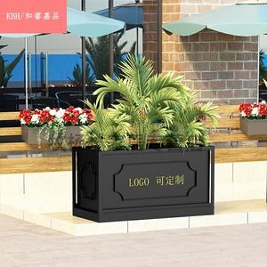 户外铁艺露台花箱商业街种植花槽外摆围栏售楼部花坛组合隔断花盆