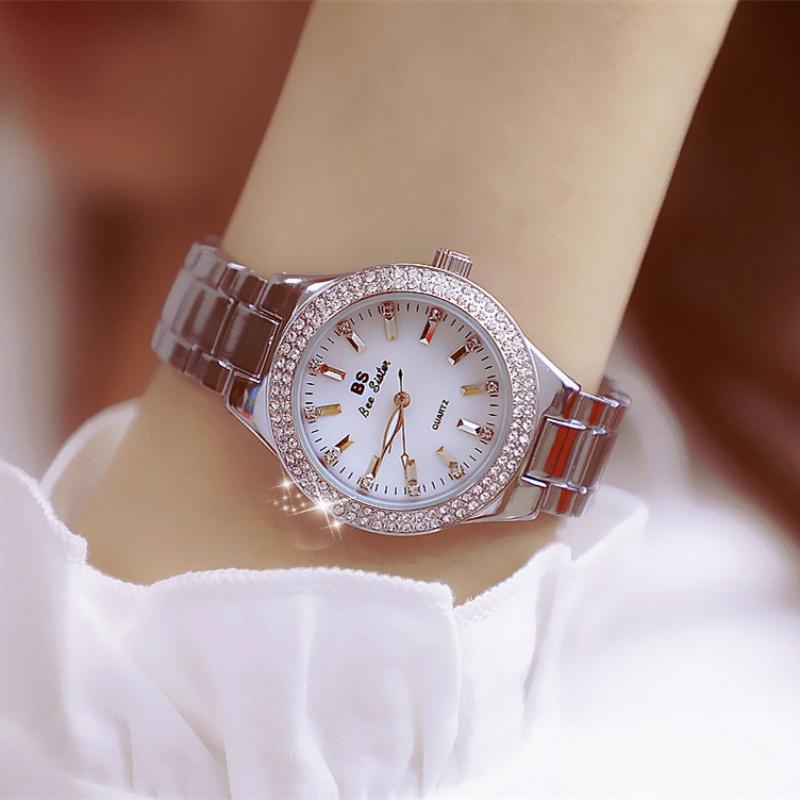 2020 new Korean BS womens watch popular simple diamond high grade bracelet watch fashion trend waterproof womens Watch