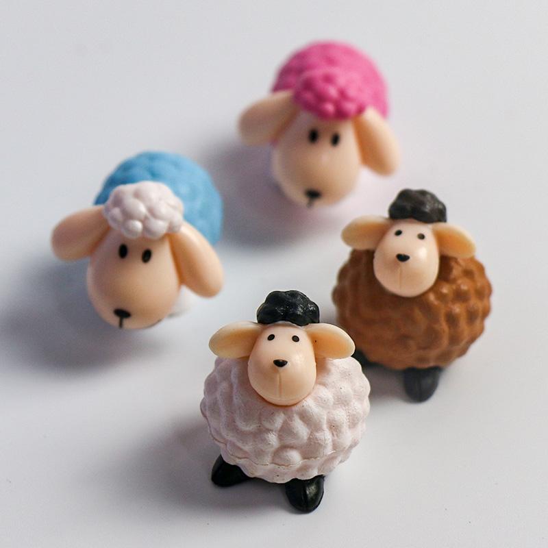 生日蛋糕装饰长耳朵羊摆件 生日派对甜品台私房烘焙小羊微景观