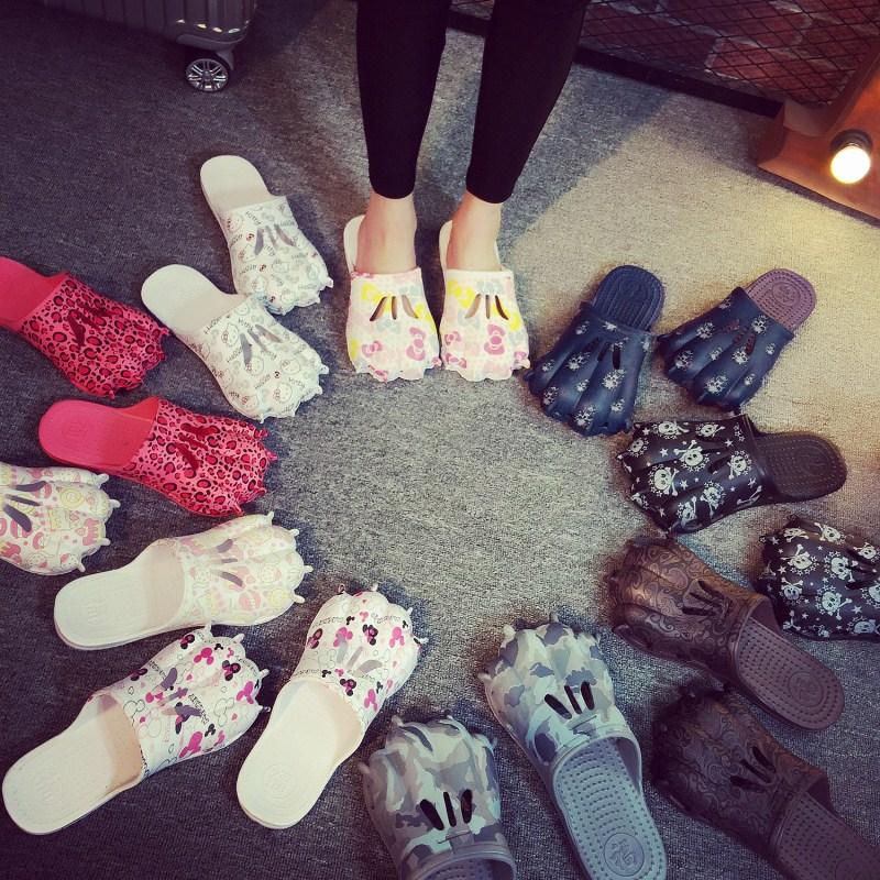夏季情侣凉拖鞋个性虎爪子拖鞋创意熊掌拖鞋男女防滑沙滩鞋居家鞋