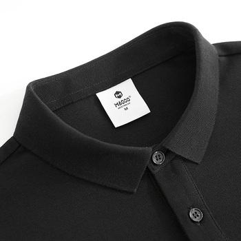 定制polo衫男翻领短袖T恤ins夏装纯黑色韩版潮牌修身带领半袖保罗
