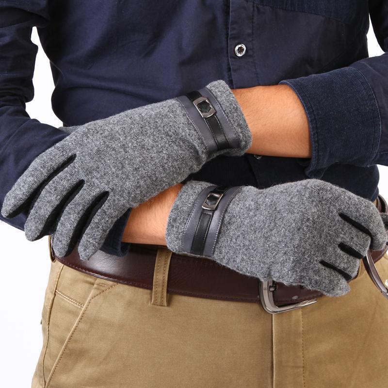 措辞 男士羊毛羊绒手套 15新款时尚韩版秋冬季保暖开车驾驶薄款