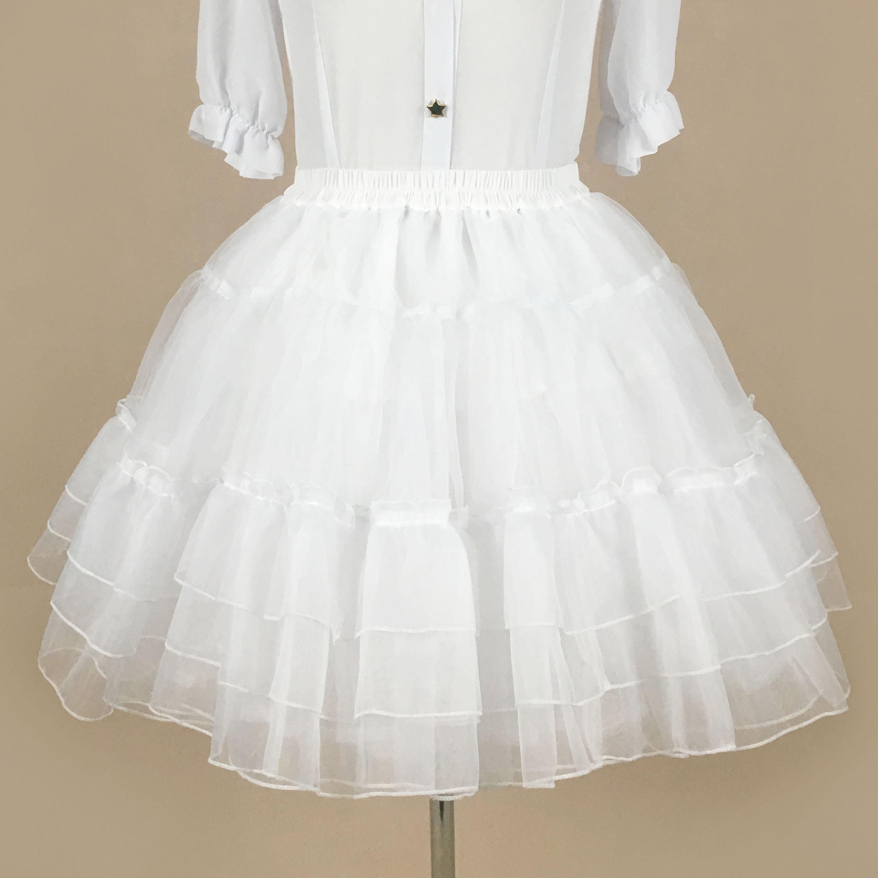 裙撑lolita日常白色暴力无骨撑洛丽塔水晶软纱蓬蓬裙cos百搭衬裙