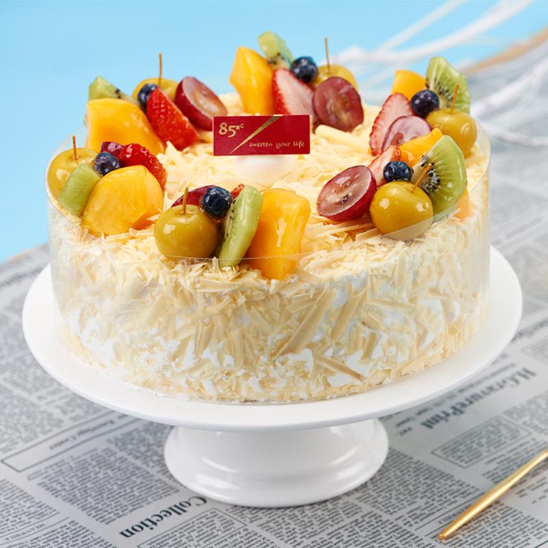 【电子券】85度C 新鲜生日蛋糕 水果缤纷 水果奶油巧克力甜品慕斯