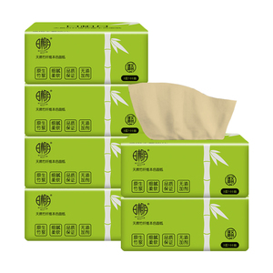 日相月抽紙批發6包竹漿本色餐巾紙家庭實惠裝面巾紙家用衛生紙巾
