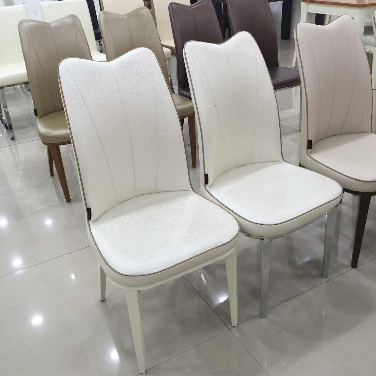 霏睿餐椅简约现代欧式白色椅子凳子家用北欧餐椅金属新品轻奢创意