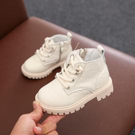 儿童马丁靴男童真皮短靴宝宝英伦风单靴小中童皮鞋女童靴子雪地靴