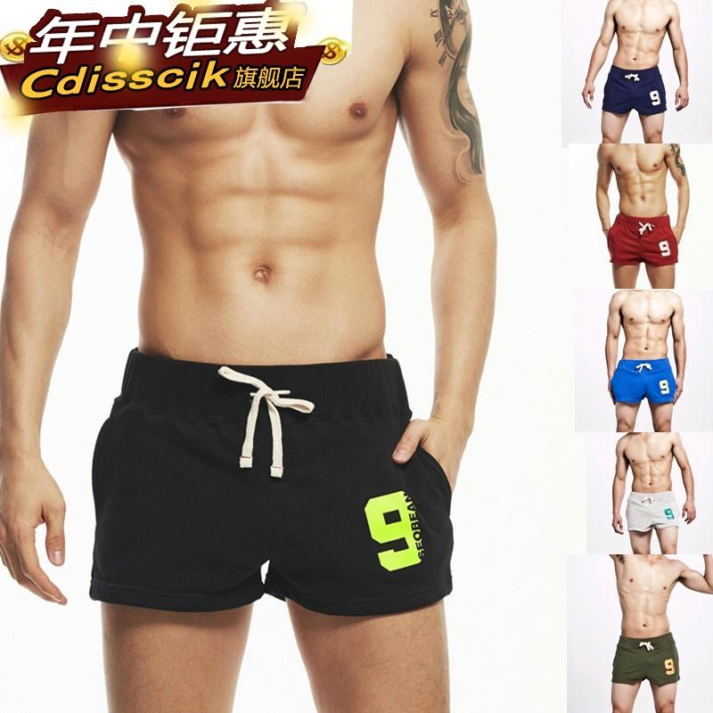 棉质三分裤男潮流 韩版修身百搭时尚运动3分裤男健身跑步居家短裤