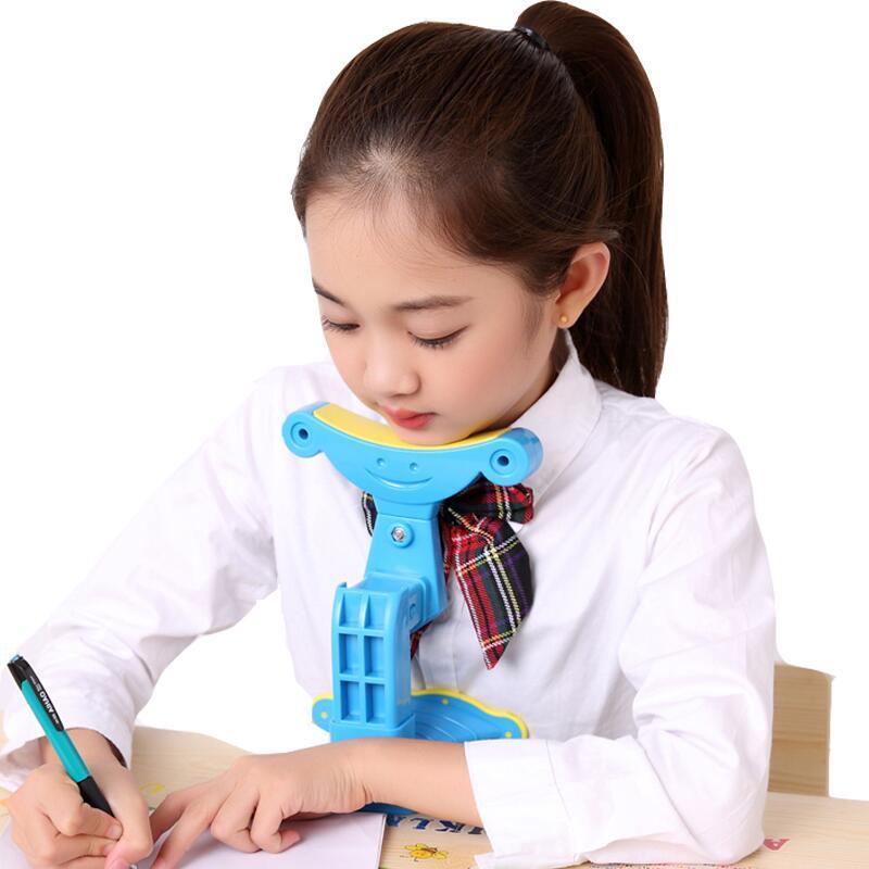 儿童坐姿矫正器防小学生视力保护器近视纠正写字姿势仪架护眼架矫正小孩低头坐姿提醒器正姿爱眼架托下巴架预