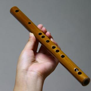 便携式小型随身乐器迷你横笛初学短笛子袖珍竹笛小降b小c调无膜孔