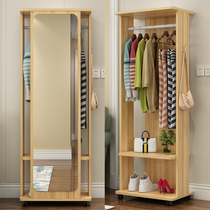 Mirror full-Body floor mirror Home Simple multi-function rotating mobile living room bedroom storage cabinets fitting mirror