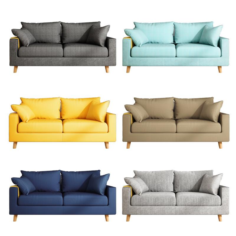 热销0件不包邮布艺沙发小户型北欧出租房小沙发