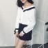 2018春装新款韩版女装港味小心机设计感长袖T恤女v领上衣服学院风