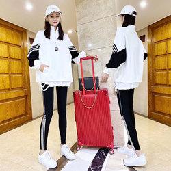 欧洲站运动套装女装2020年秋季新款潮牌宽松休闲服时尚欧货三件套