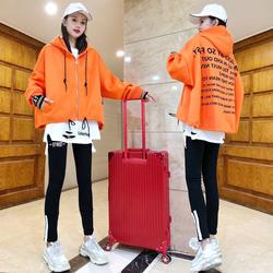 欧洲站运动服2020年春秋季运动套装女潮牌宽松卫衣休闲时尚三件套