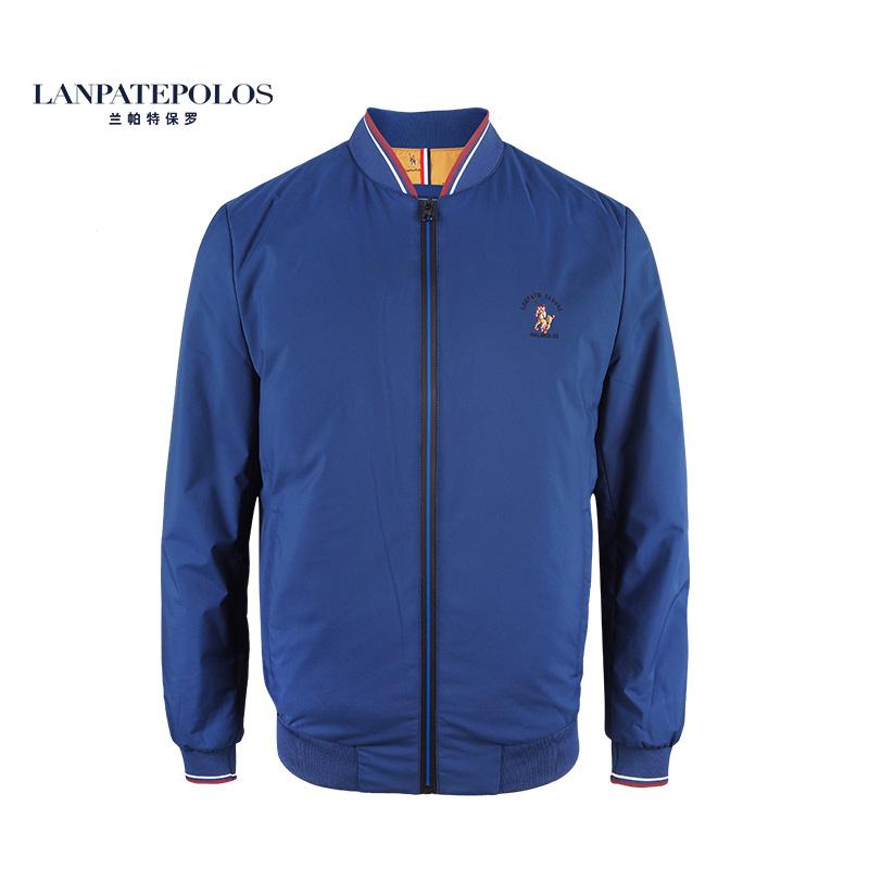 Lampat Paul new fashion British versatile slim fit cotton jacket casual coat thick solid color baseball suit