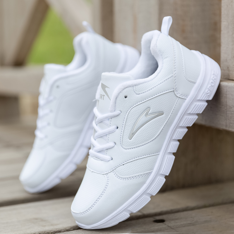 Genuine AON snow treading spring and autumn white sports shoes childrens shoes