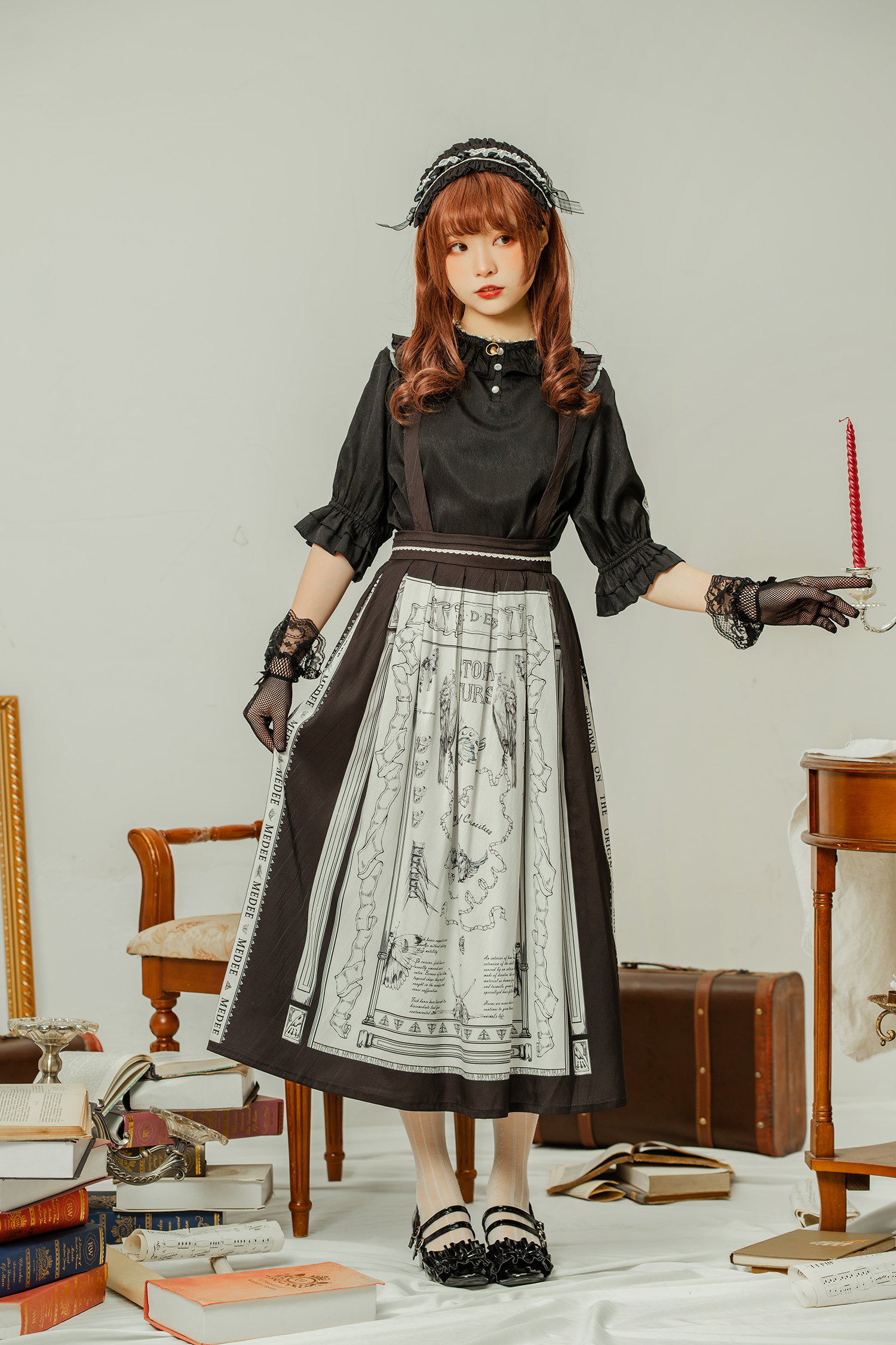 Stock medee original design Lolita spring and summer daily collection notes 3 type jsk skirt