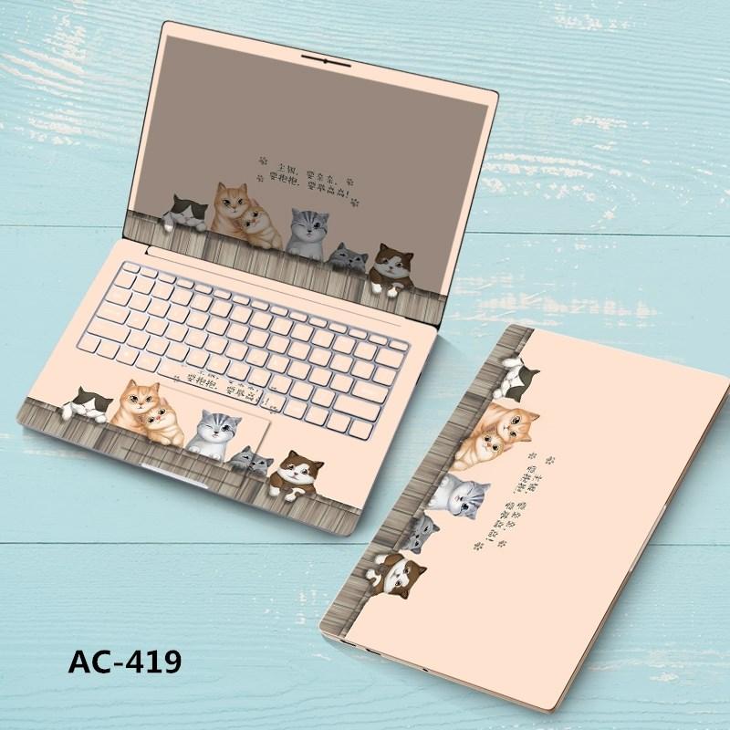 全包惠普电脑定制贴膜14寸15.6寸裁剪型免贴纸华硕