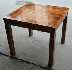 新款实木方桌餐桌火烧木方桌碳化木休闲桌打牌桌饭店农家乐桌椅