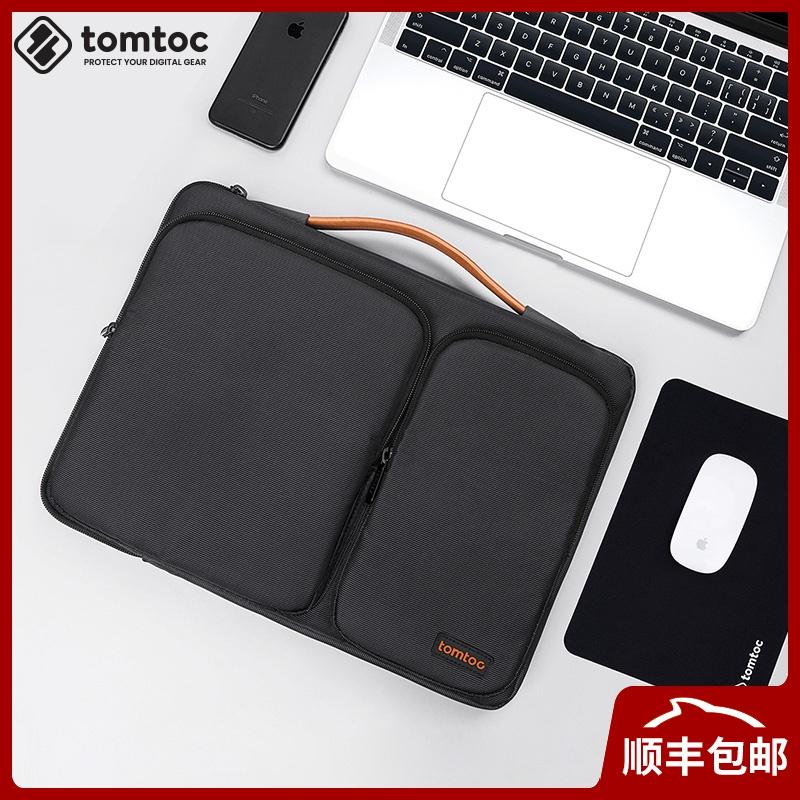 tomtoc蘋果電腦包Macbookpro14寸15.6男商務單肩手提筆記本內膽包