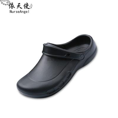 Giày đầu bếp chống trượt-  giày đen chống dầu mỡ, chống nước cho nhân viên khách sạn , nhà hàng - dép nhựa EVA siêu  nhẹ khử mùi hiệu quả tốt- Dép cho công nhân nhà máy