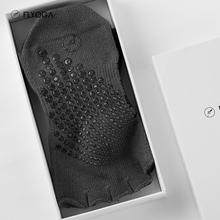 FLYOGA芙莱尔瑜伽夏季薄款专业五趾露趾防滑硅胶长筒瑜伽袜F6901