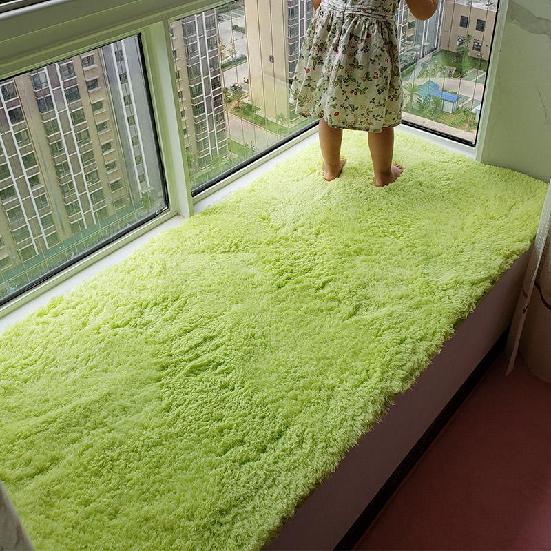 可爱毛绒窗台垫飘窗垫定做卧室榻榻米阳台垫房间床边地毯四季通用