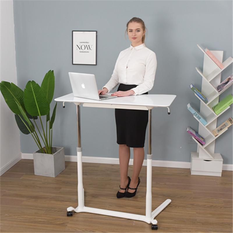 厂家直销移动升降笔记本电脑桌台式办公桌床边工作台儿童学习桌子