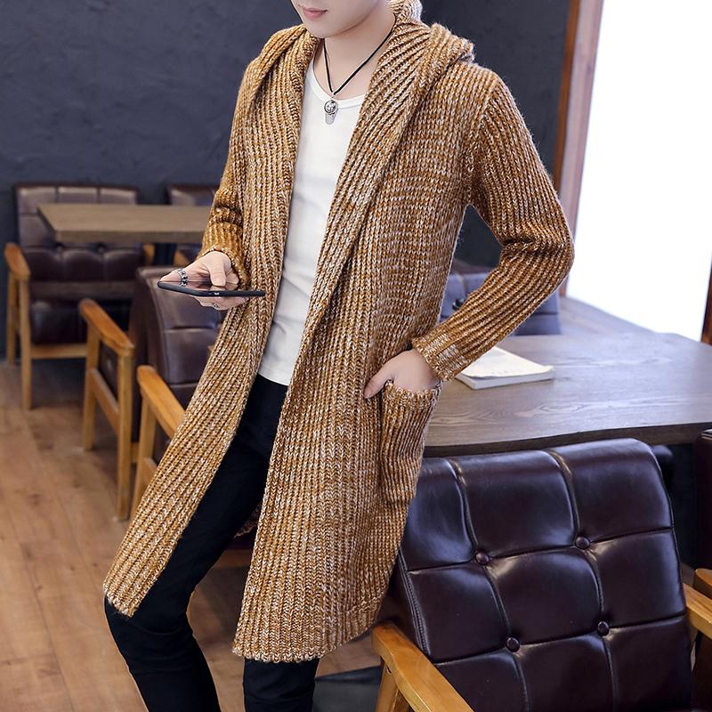 秋冬男士针织衫潮流韩版中长款毛衣