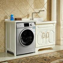 全石材洗衣柜定制人造玉石洗衣柜 定做全玉石洗衣机一体柜