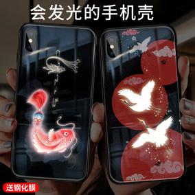 来电闪iphonexr苹果xs声控发光玻璃