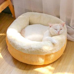 猫窝冬季猫咪窝封闭式四季用品猫垫